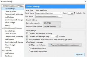 Advanced Server Settings