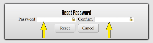 Reseting the Password as the Admin