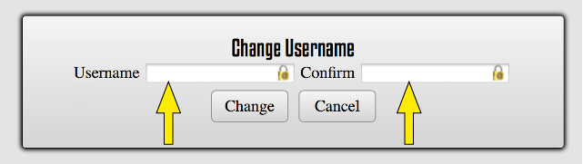 Changing the Username as  an Admin