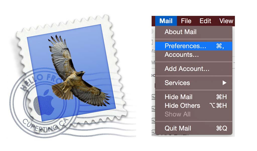Email Setup for OS X Mac Mail - Preferences