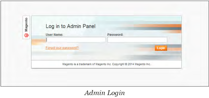 Admin Panel Login and Dashboard in Magento - Admin Login