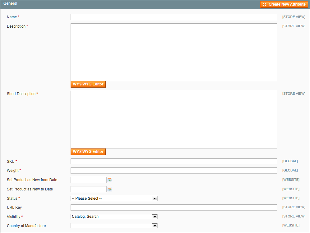 Creating a Simple Product in Magento: General Settings