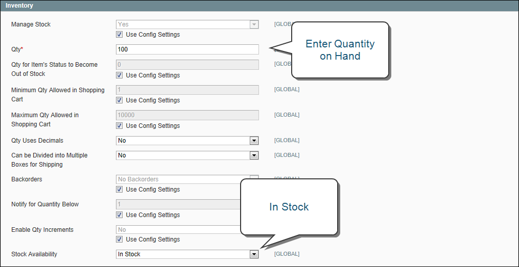 Creating a Simple Product in Magento: Inventory with Stock Management