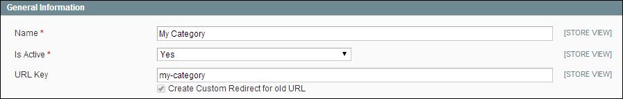 Category URL Key