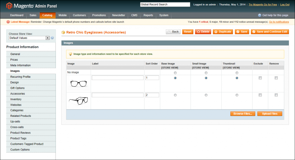 Product Images in Magento