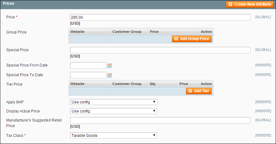 Product Pricing in Magento