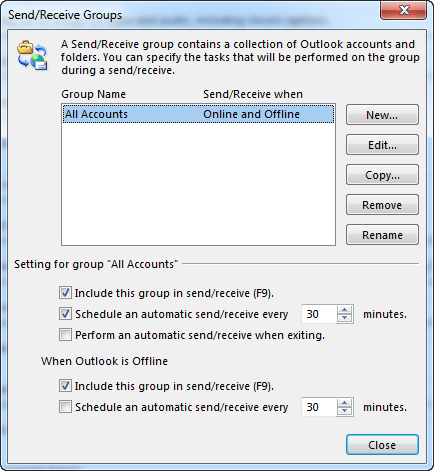 Send-Receive Groups