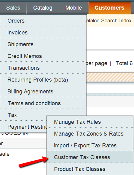Setup Tax Exemption in Magento: Customer Tax Class