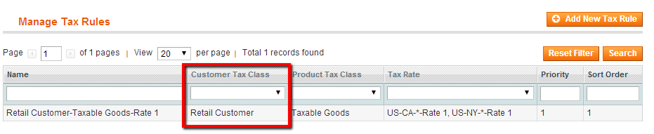 Setup Tax Exemption in Magento: Manage Tax Rules