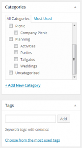 Categories and Tags