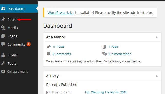 blog account - Posts