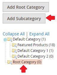 Root Category in Magento 2