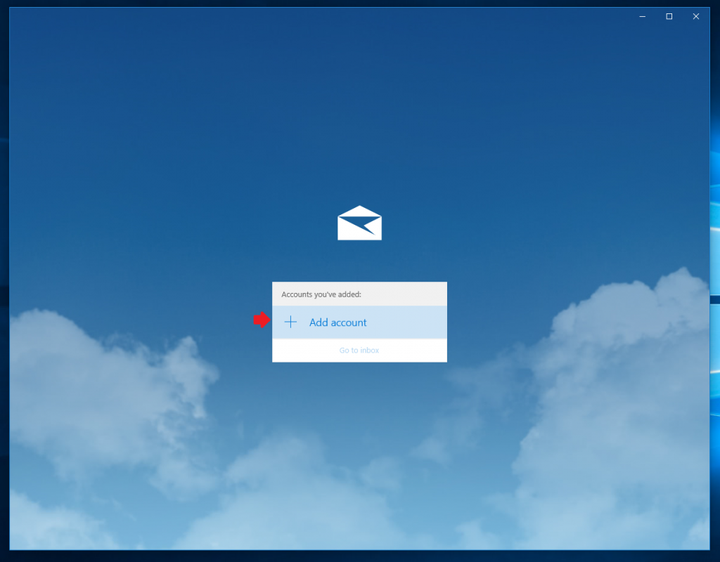 Windows 10 Mail Setup - Add account