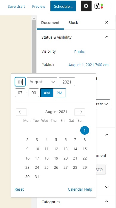 How to use your blog account with Centennial Arts - Schedule Post