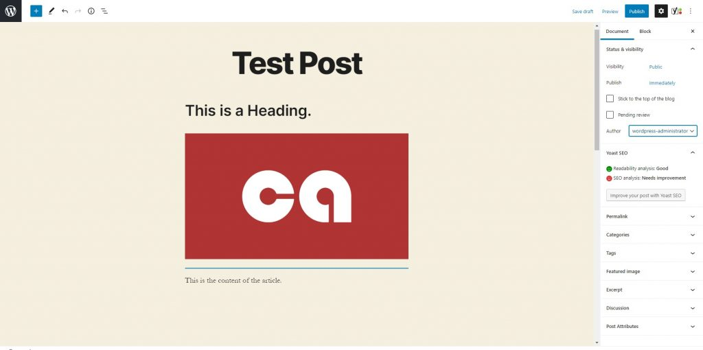 How to use your blog account with Centennial Arts - Test Post Editor