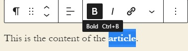 How to use your blog account with Centennial Arts - Formatting text